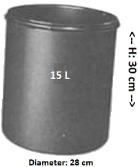 Emmer 15 liter