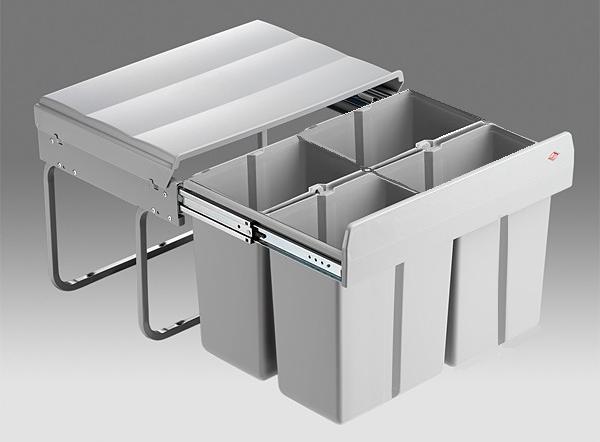 Afvalemmer - inbouw - afvalemmers - Afvalemmer kast 60 cm - Draaideur