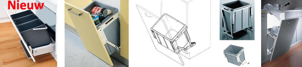Vuilnisbak Keuken Inbouw : Keuken afvalemmers voor in uw keuken bij keukenmontagebedrijf Noord